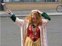 WordPress Fairy Blogmother (Lorelle VanFossen) on the streets of downtown Portland, Oregon