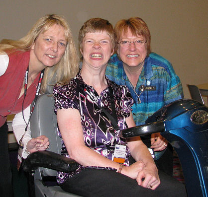 Liz Strauss, Glenda Watson Hyatt, and Lorelle VanFossen at Blog World Expo in Las Vegas 2008