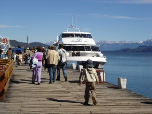 Fishing on the great lakes around Bariloche, Argentina