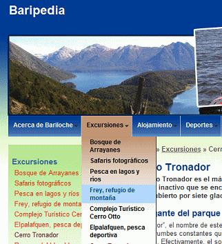 Baripedia drop down menus
