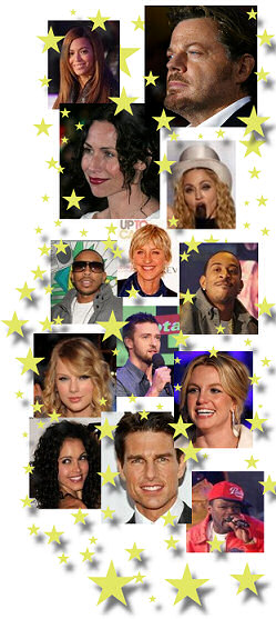 collage of celebrity photos