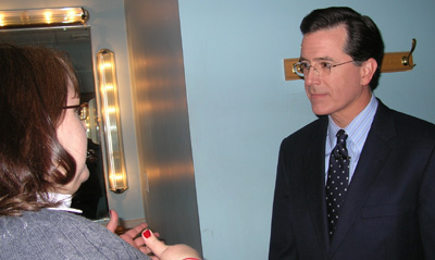 DB Ferguson meets Stephen Colbert live and in person backstage