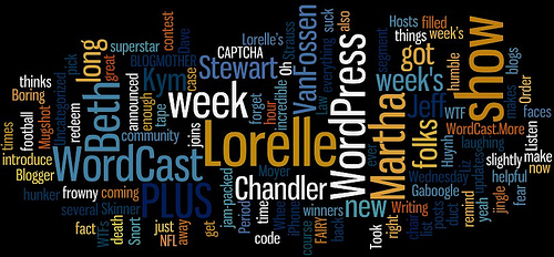 WordCast Podcast Wordle Tag Cloud with Lorelle VanFossen