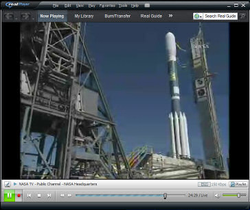 Kepler on launch pad - from NASA TV