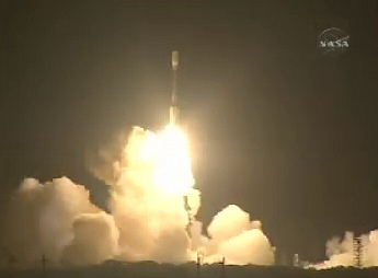 Kepler Mission launches - from NASA TV