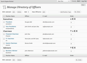 Officers Directory WordPress Plugin by Douglas Bell