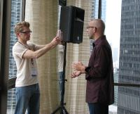 john-hayden-interviewing-sunday-sobcon2010chicago-by-lorelle-vanfossen