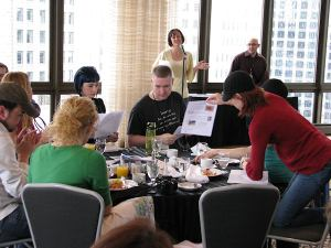 Sunday Brainstorming at SOBCon 2010 in Chicago - copyright Lorelle VanFossen
