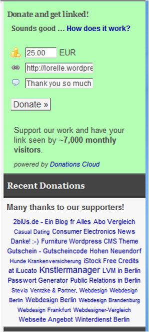 Donation Cloud WordPress Plugin