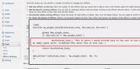 Example of code for Contextual Help Menus for WordPress Plugin