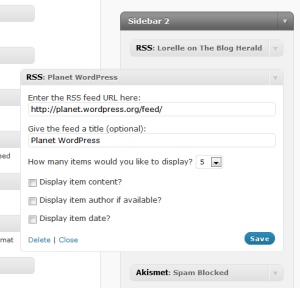 Add Feed to WordPress.com sidebar with Feed Widget