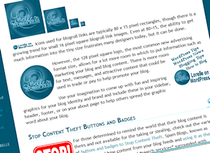 Article on adding buttons and bows to your blog for fun