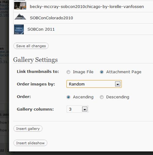 Gallery Shortcode Settings in WordPress.com