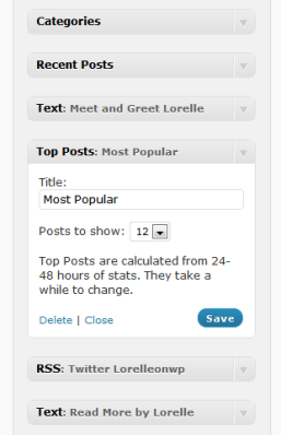 Most Popular Posts Widget on WordPress.com