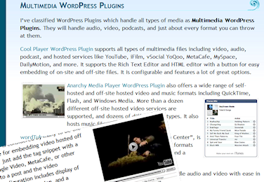 Images and Video WordPress Plugin Article