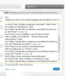 Example of HTML in Text Widget for WordPress.com sidebar