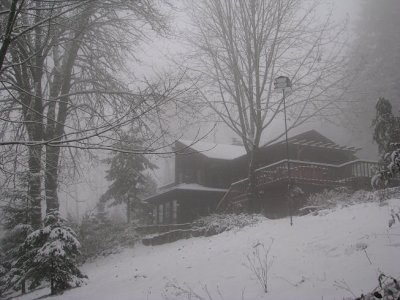 VanFossen home covered with snow