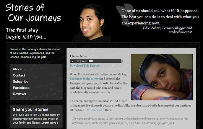 Stories of Our Journeys interview with Edrei Zahari