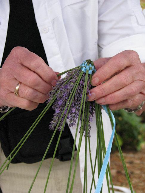 making lavender wands