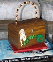 Siverson Kids made a wooden handbag with a mermaid on it for Lorelle