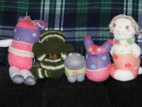 Sock dolls made by Lorelle VanFossen