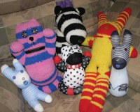 sock dolls by Lorelle