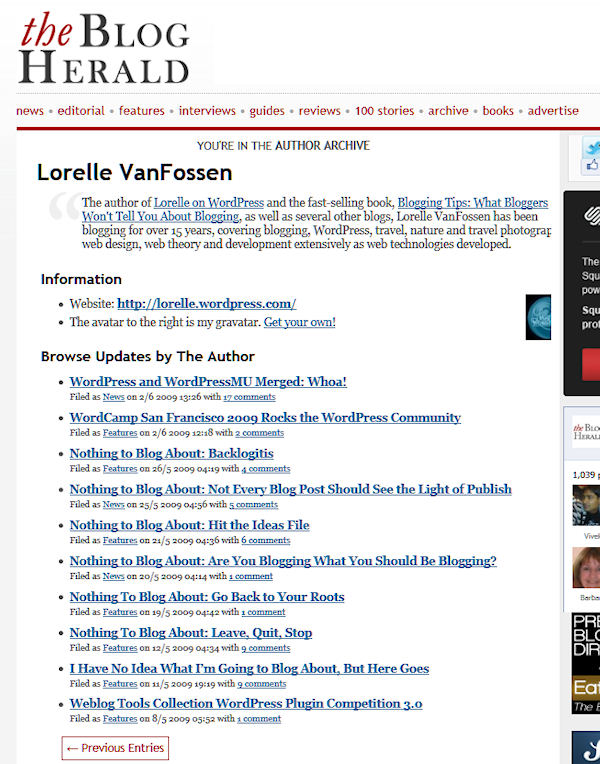 author page – blog herald lorelle vanfossen « Lorelle on