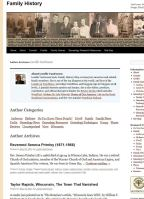 Example of author page with author categories.