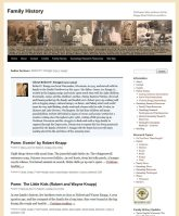 author page family history