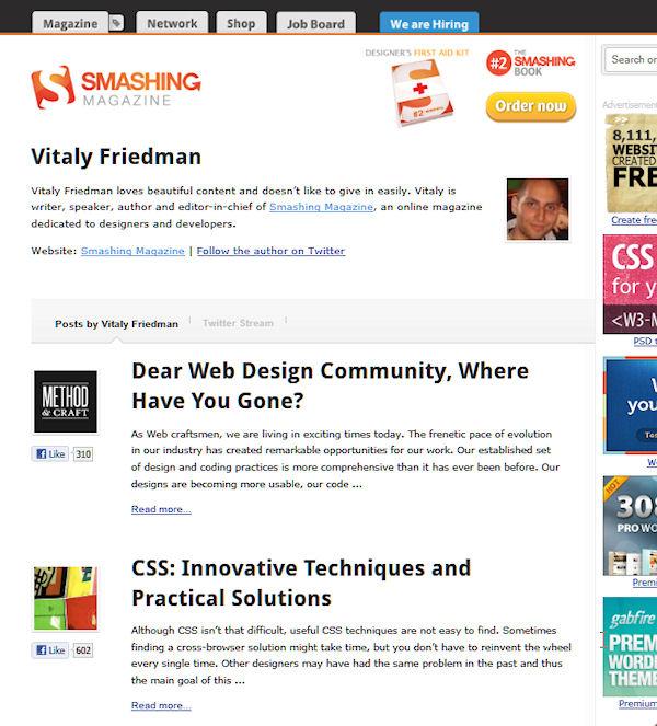 author page smashing magazine
