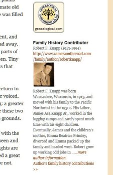 author spotlight widget - family history