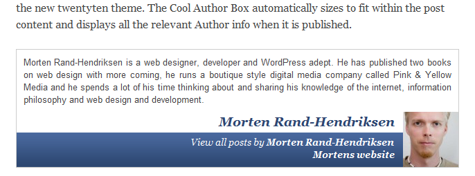 author bio - cool author wordpress plugin