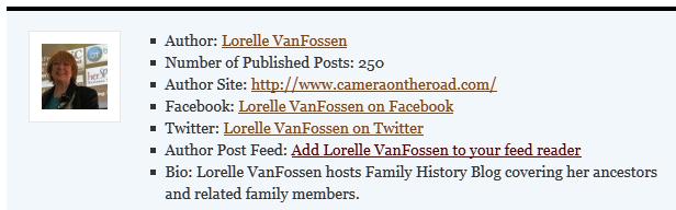author bio - list form
