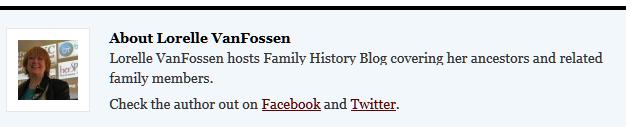 author bio - social media links