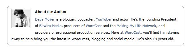 author bio wordcast