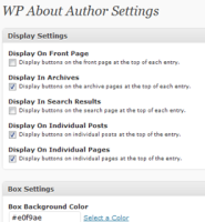 author bio - wp about author plugin
