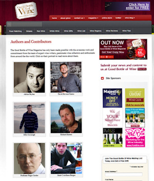example of author list on a WordPress Page featuring author images