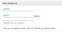 multiple authors-co-author plugin