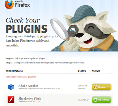 Firefox 5 auto plugin and add-on tester