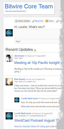 Example of P2 collaboration blog