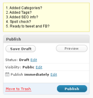 Prepublish Reminder WordPress Plugin