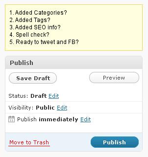Prepublish Reminder WordPress Plugin