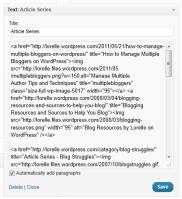 text widgets article series code