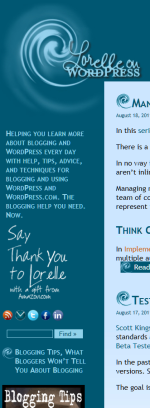 Example of Text Widget with just text in the title