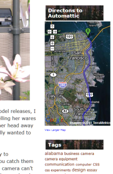 Example of featuring Google Map in WordPress Text Widget