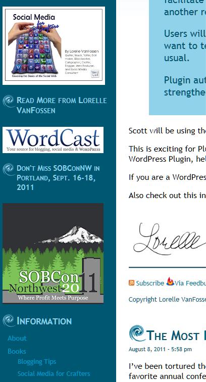 text widgets image link examples