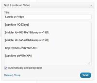 text widgets video shortcodes