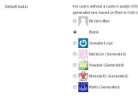 Gravatar image alternative image options in WordPress