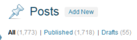 Draft post count in WordPress Administration Panels