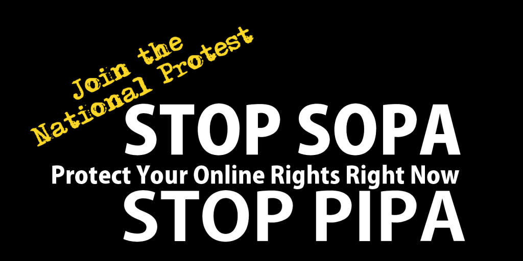 Protest against SOPA and PIPA protect our web rights
